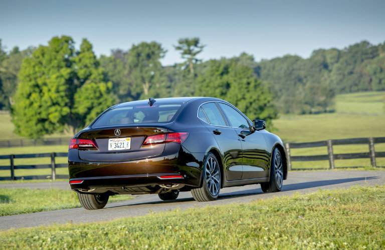 Brown 2017 Acura TLX Rear Exterior on Country Road