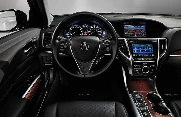 2017 Acura TLX Steering Wheel, Dashboard and Touchscreen Display