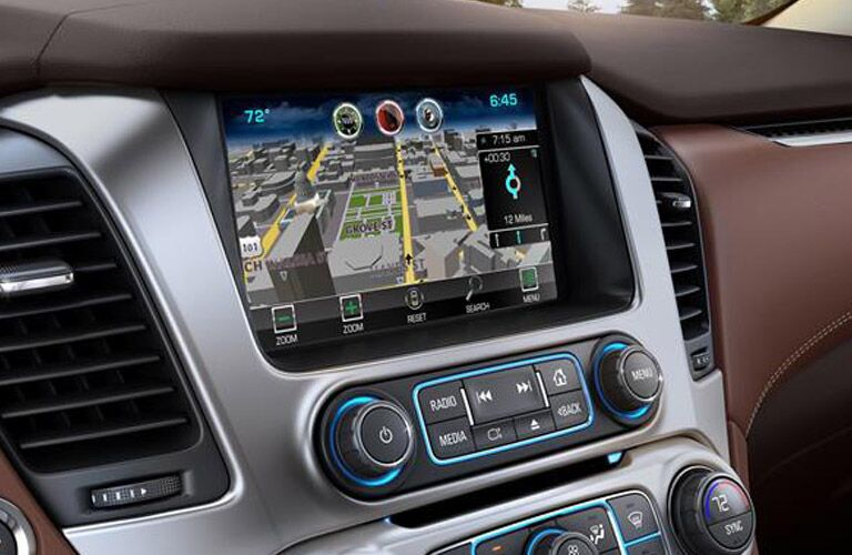 Center touchscreen of Chevrolet Suburban