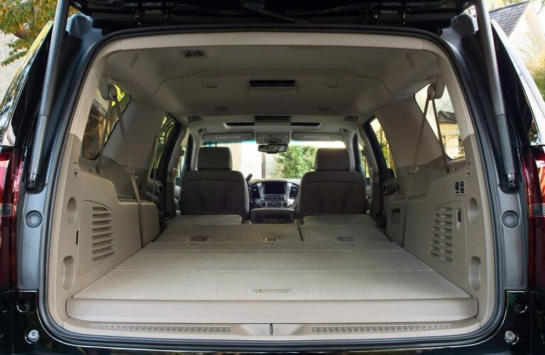 Rear cargo area of Chevrolet Suburban