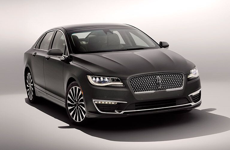 Black 2017 Lincoln MKZ on a Gray Background