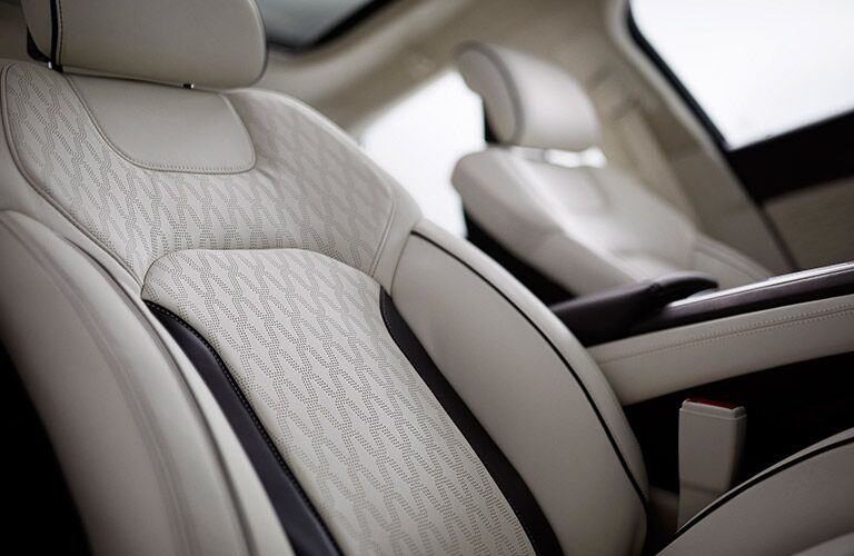 Close Up of 2017 Lincoln MKZ Premium Leather Interior