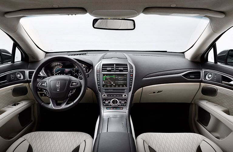 2017 Lincoln MKZ Steering Wheel, Dashboard and Touchscreen Display
