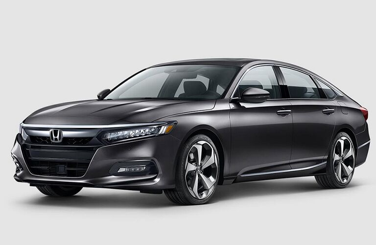 Black 2018 Honda Accord Touring on a White a Background
