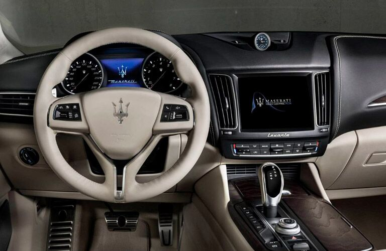 2018 Maserati Levante GranLusso Steering Wheel, Dashboard and Touchscreen Display