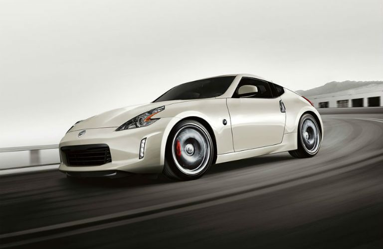 White 2018 Nissan 370Z on a Freeway