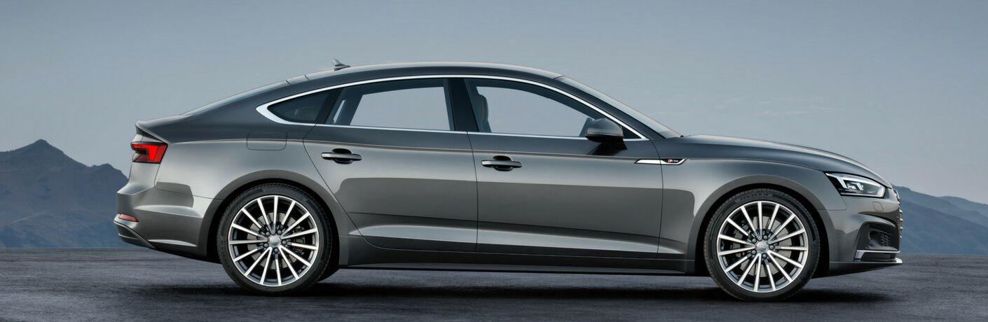 Silver 2018 Audi A5 Sportback Side Exterior