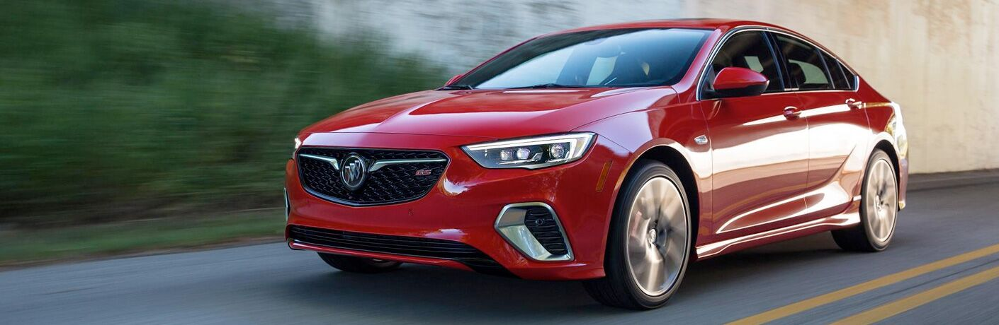 Red 2019 Buick Regal GS on a Freeway