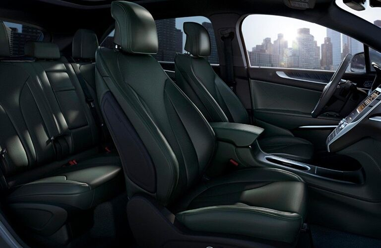 black interior of lincoln mkc vehicle