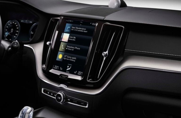 Close Up of 2019 Volvo XC60 Touchscreen Display