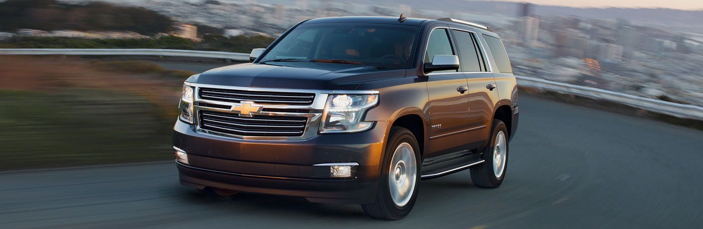 2020 Chevy Tahoe exterior front fascia driver side on blurred road