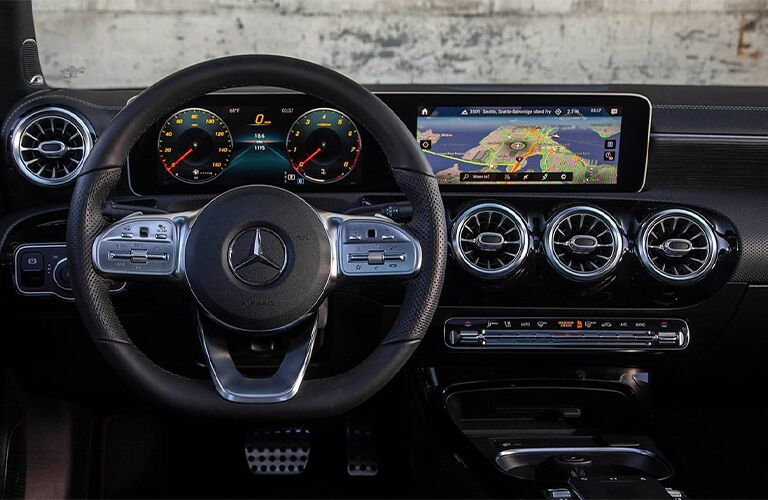 2020 Mercedes-Benz A-Class Steering Wheel and Touchscreen Display