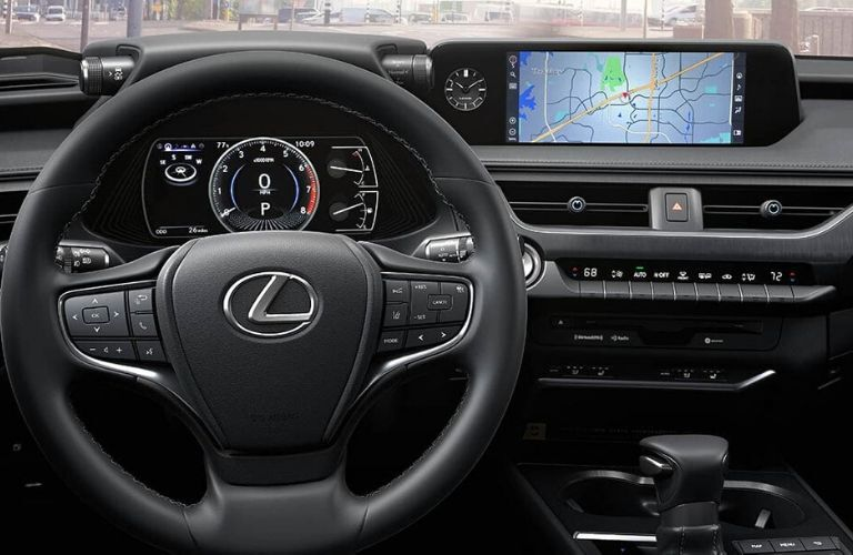 2020 Lexus UX Steering Wheel and Touchscreen Display