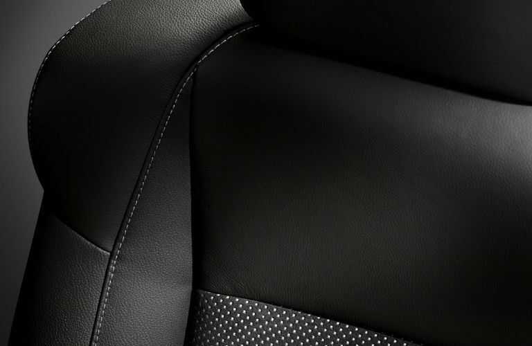 Acura leather seat stitching
