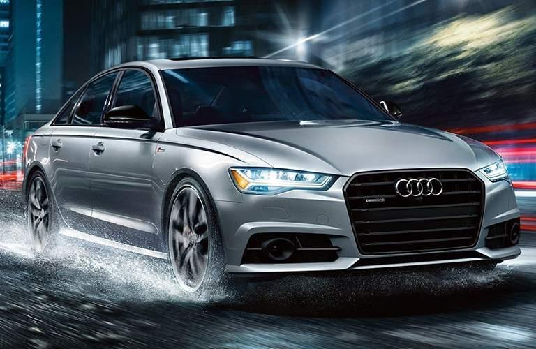 Audi model in silver