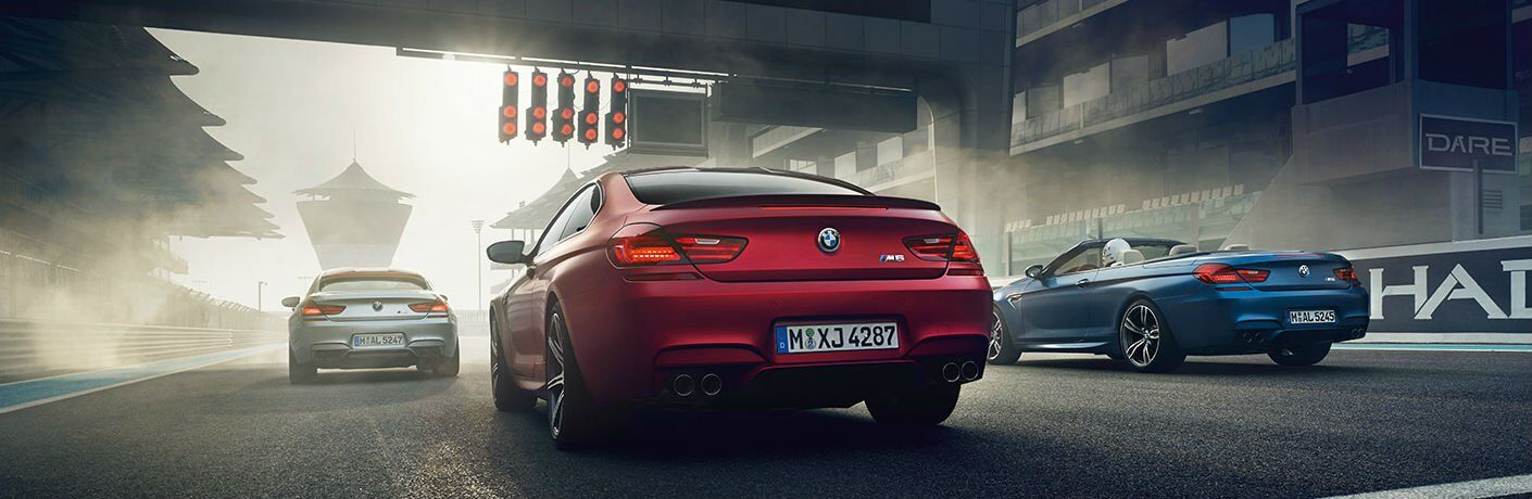 BMW M6 models in a row