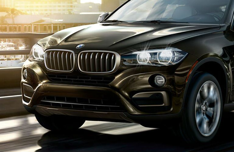 BMW X6 front grille and headlights