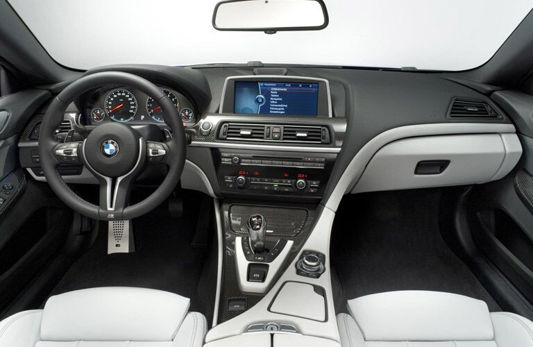 BMW 6 Series center console and dashboard