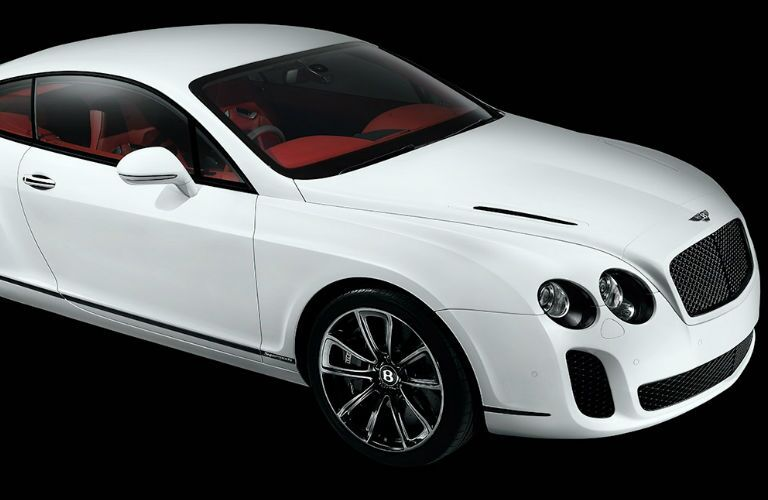 White Bentley model side view