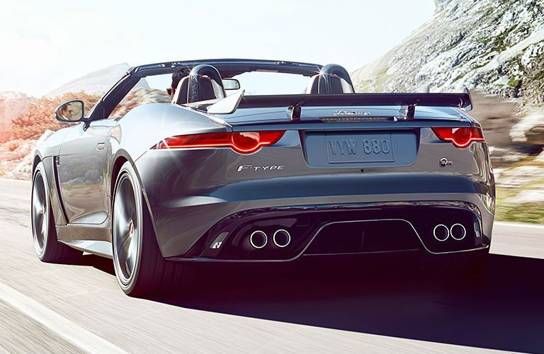 Rear end of Jaguar F-Type Convertible