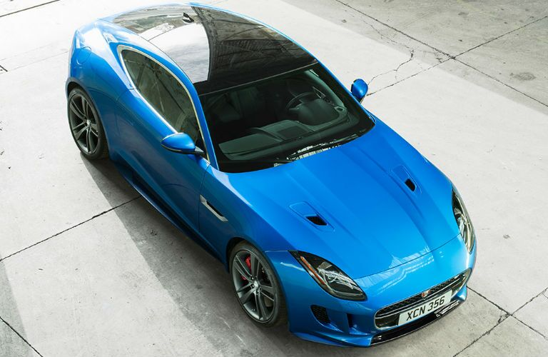 Jaguar F-Type model in blue