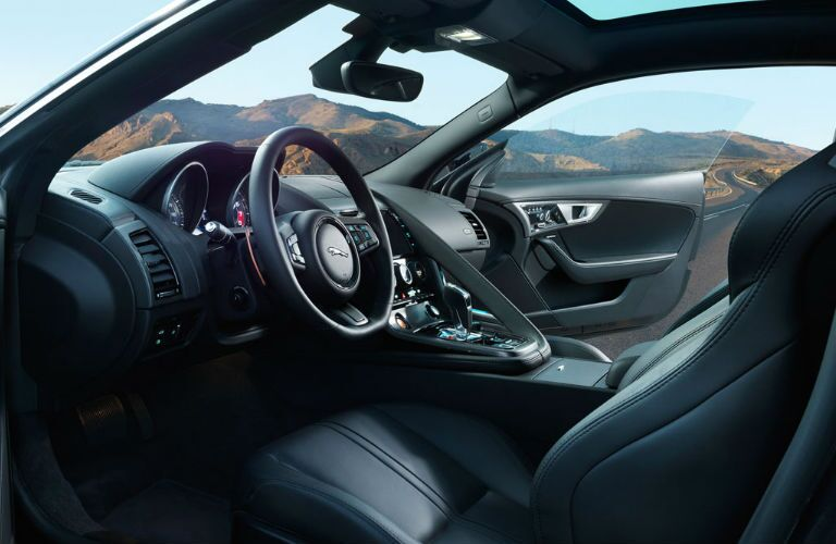Interior of Jaguar F-Type