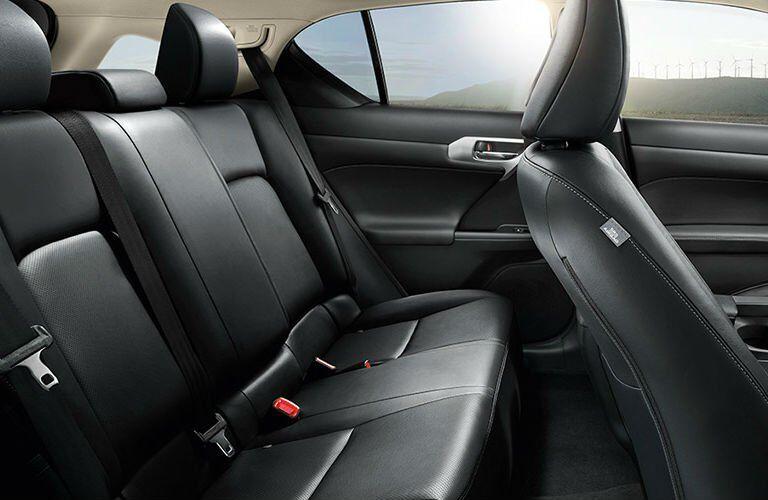 Lexus CT rear seating