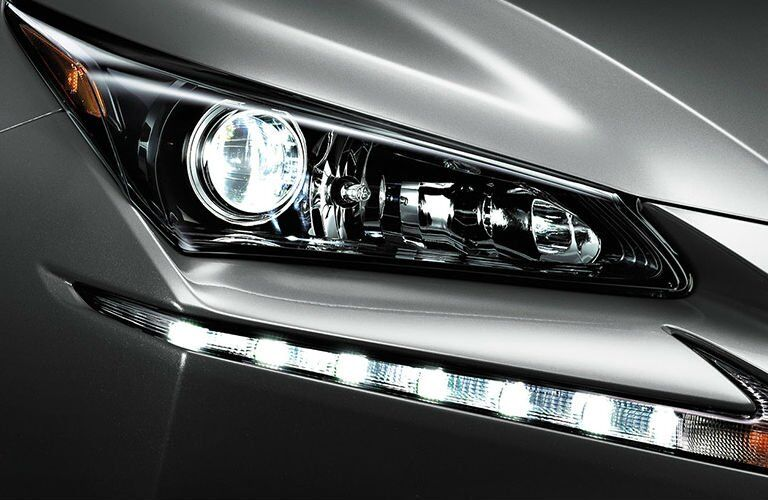 Lexus NX headlight close up