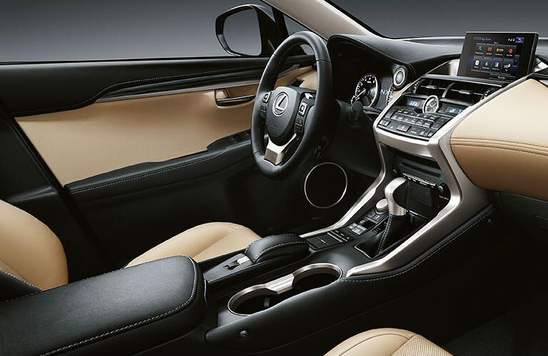 Lexus NX front seat view