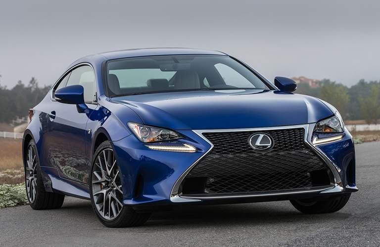 Lexus model in blue