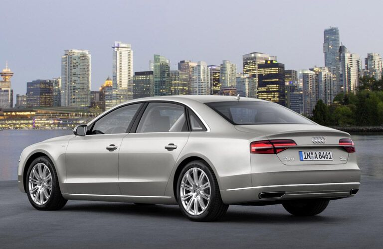 Used Audi A8 rear view