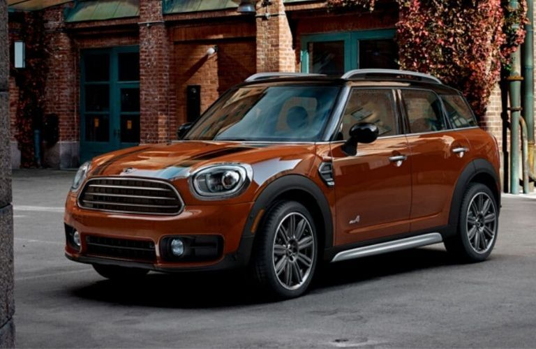 Orange 2020 MINI Countryman Parked in a Parking Lot