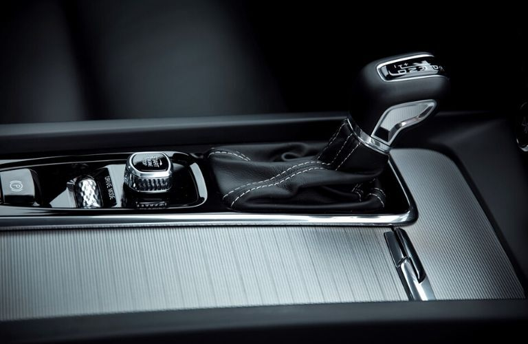 Close Up of 2019 Volvo S60 Center Console and Shifter