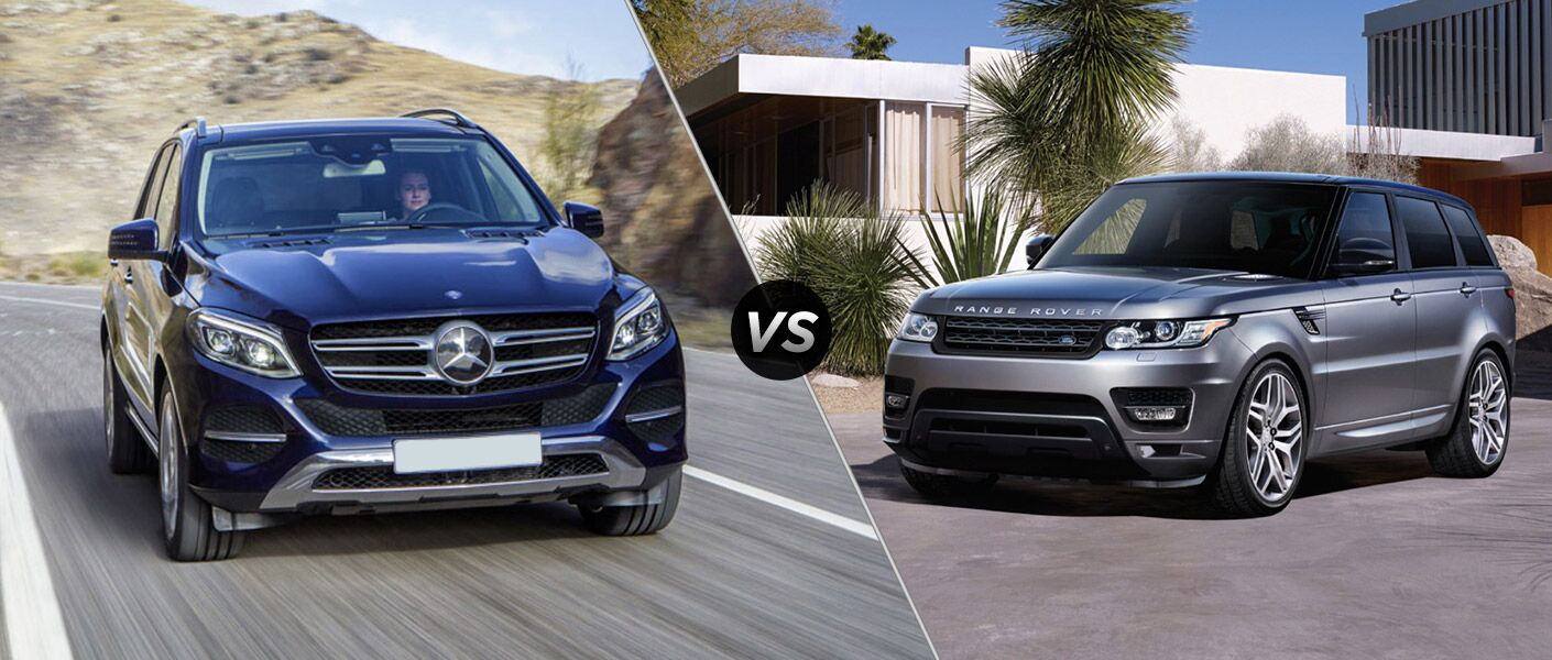 2016 mercedes benz gle vs 2016 land rover range rover sport for Mercedes benz rover