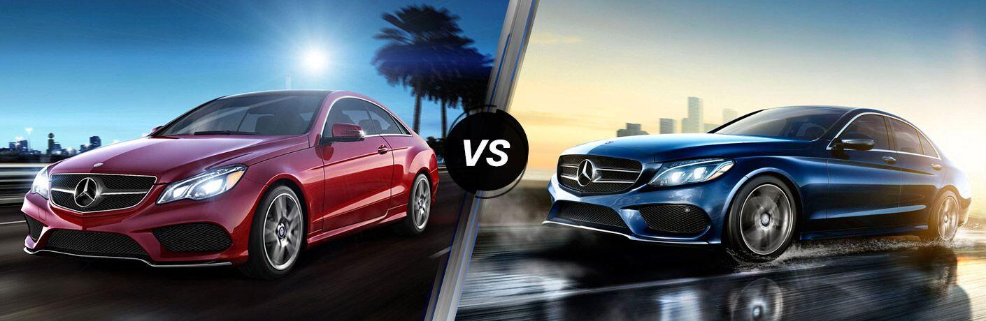 2016 mercedes benz c class vs e class for Mercedes benz c class vs e class