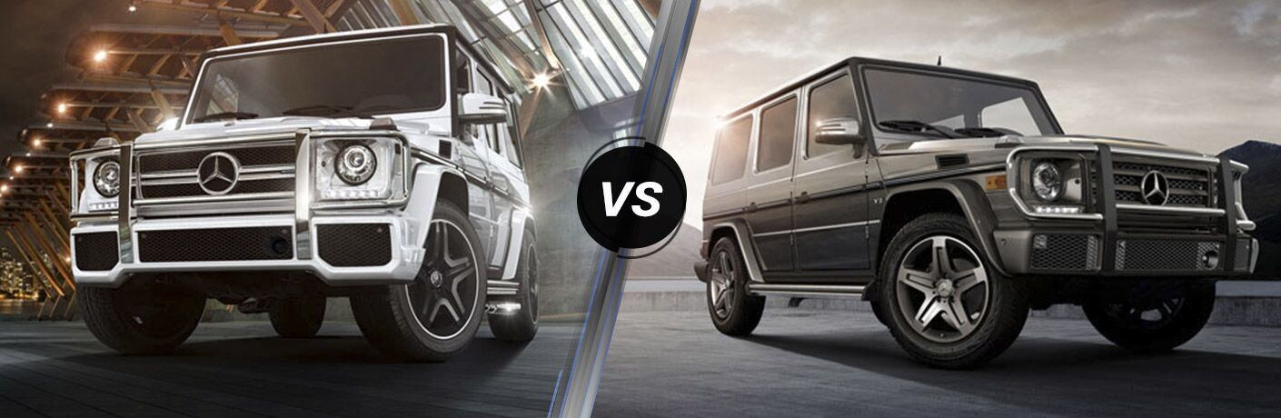 2017 mercedes benz g class suv vs g550 4x4 squared for Mercedes benz g class 4x4