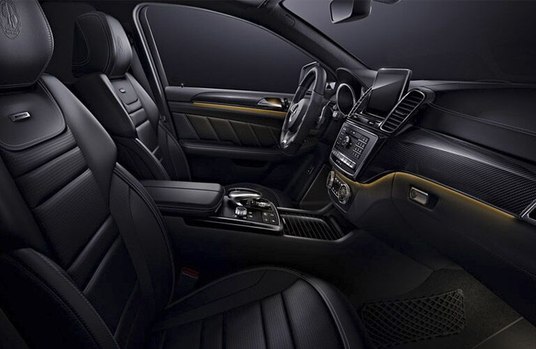 2017 Mercedes-AMG GLE63 Black Leather Interior