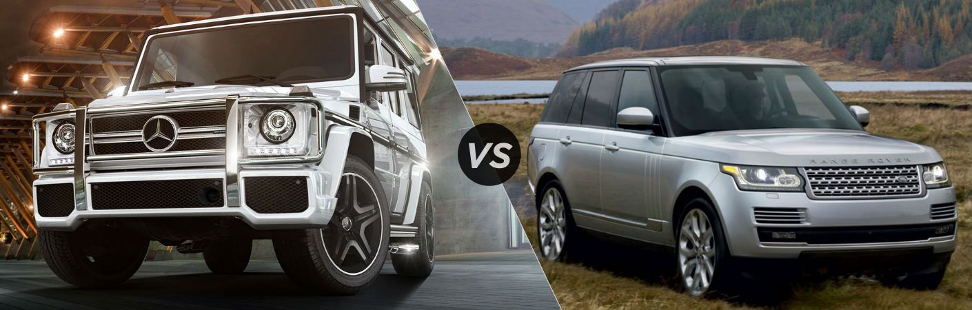 2017 mercedes benz g class vs land rover range rover for Mercedes benz rover