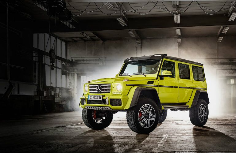 2017 mercedes benz g class suv vs g550 4x4 squared for Mercedes benz g550 4x4 squared