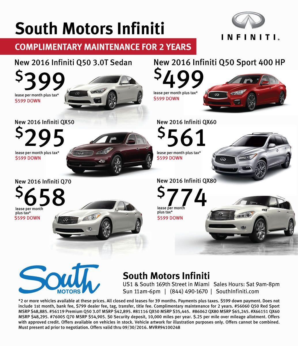 Miami Florida Infiniti Dealership South Motors Infiniti