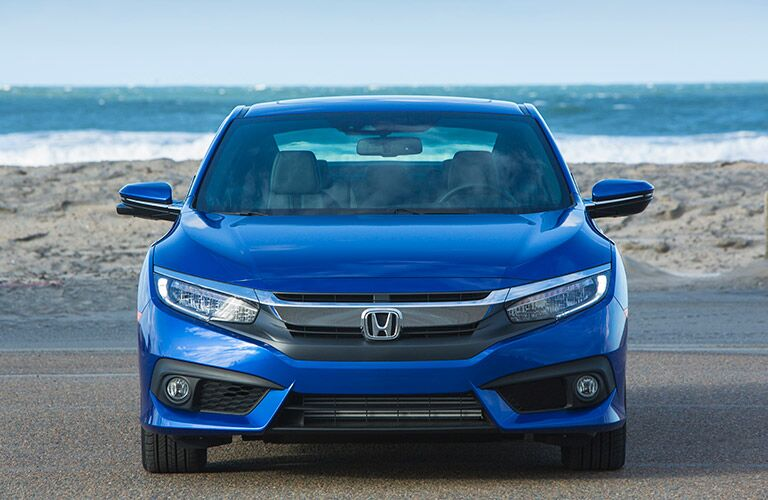 2017 Honda Civic blue car