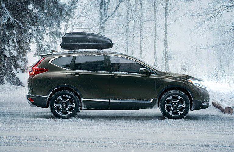 2017 Honda CR-V covered in snow