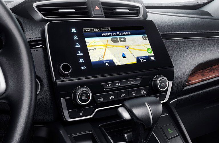 Closeup of the touchscreen of the 2017 Honda CR-V