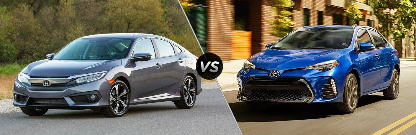 2017 Honda Civic vs 20107 Toyota Corolla