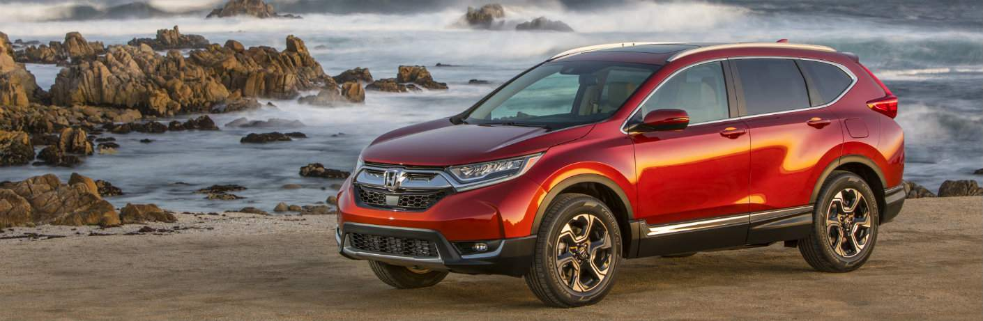 2018 Honda CR-V parked by ocean