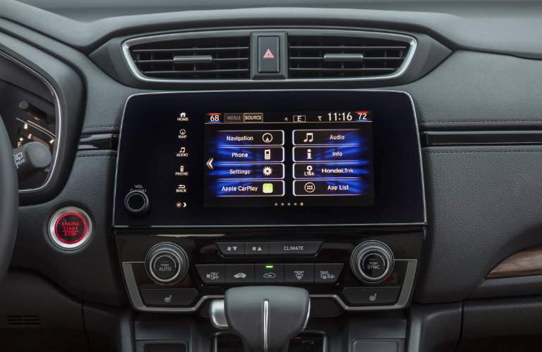 2018 Honda CR-V infotainment system settings screen