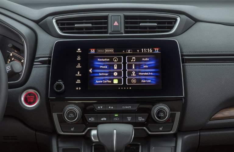 2018 Honda CR-V infotainment system settings screen