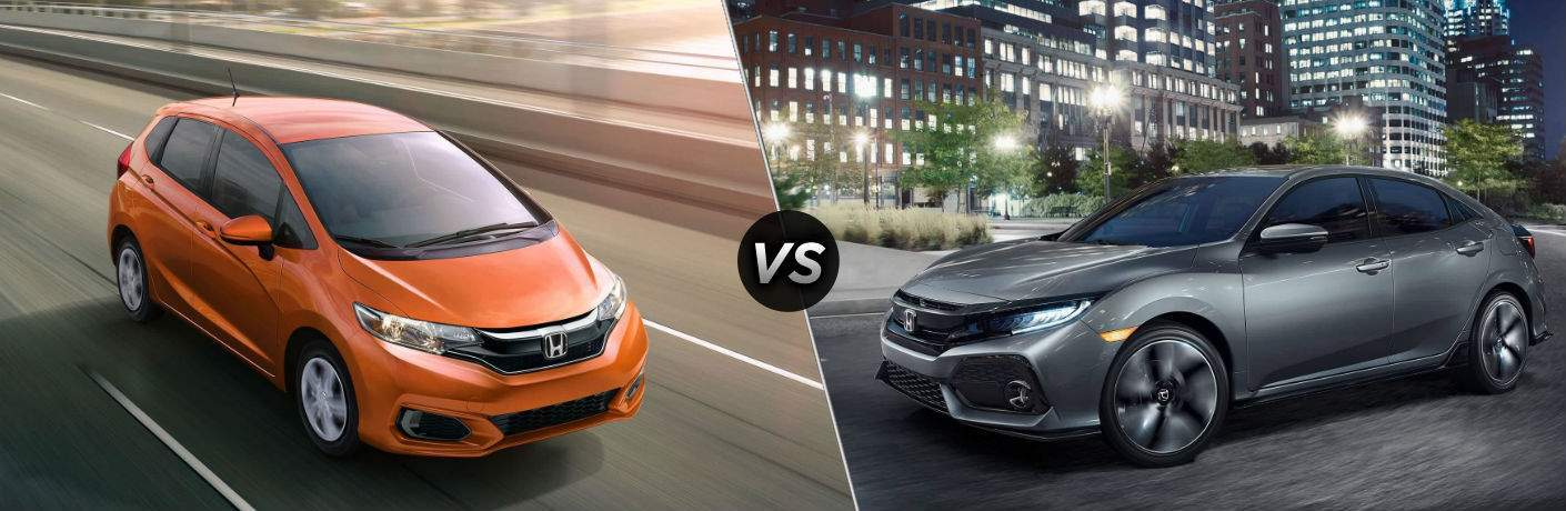 2018 Honda Fit vs 2018 Honda Civic Hatchback