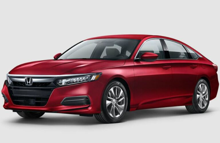Red 2018 Honda Accord on gray background