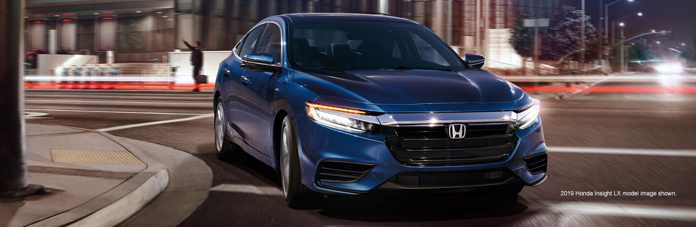 2019 Honda Insight side profile platinum gray metallic